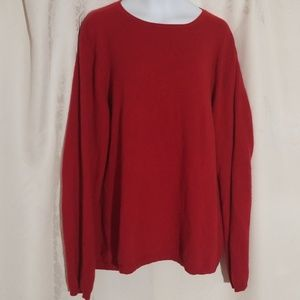 Charter Club 100% Cashmere Red Sweater 1X
